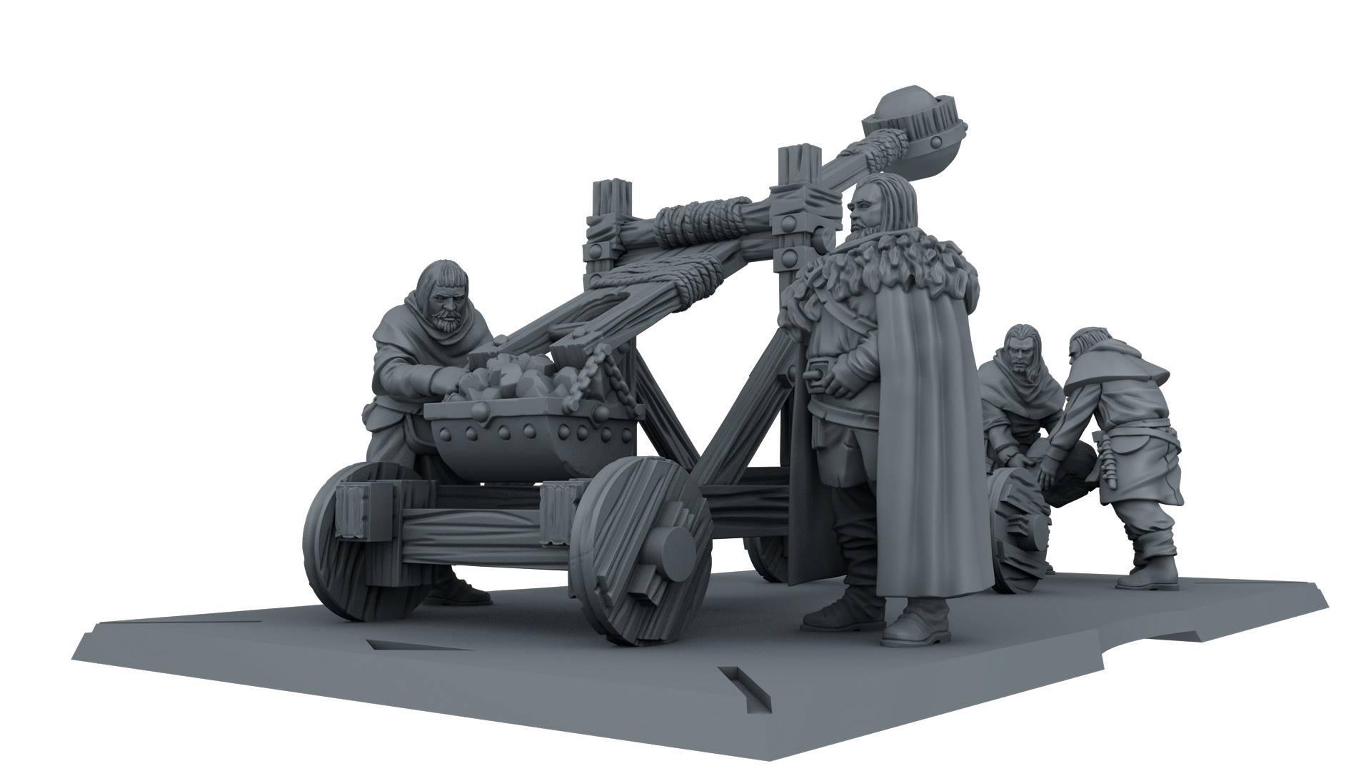 Builder Stone Thrower 3D Render