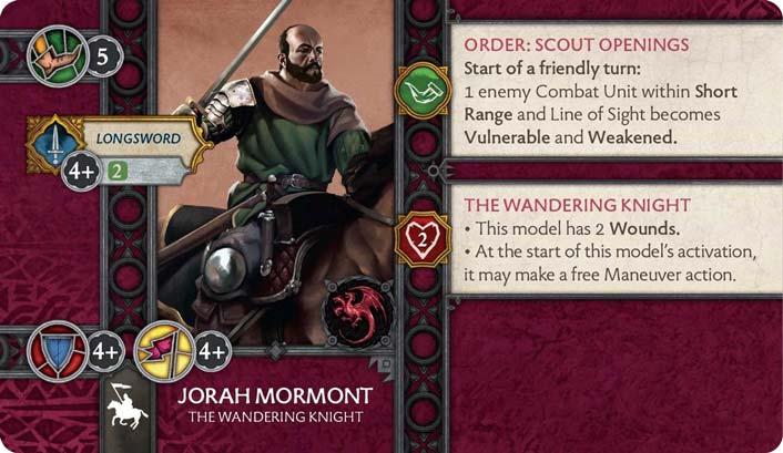 Jorah Mormont - The Wandering Knight (Verso) US