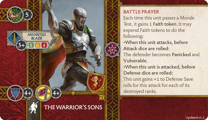 The Warriors Sons (Verso) 1.5 US